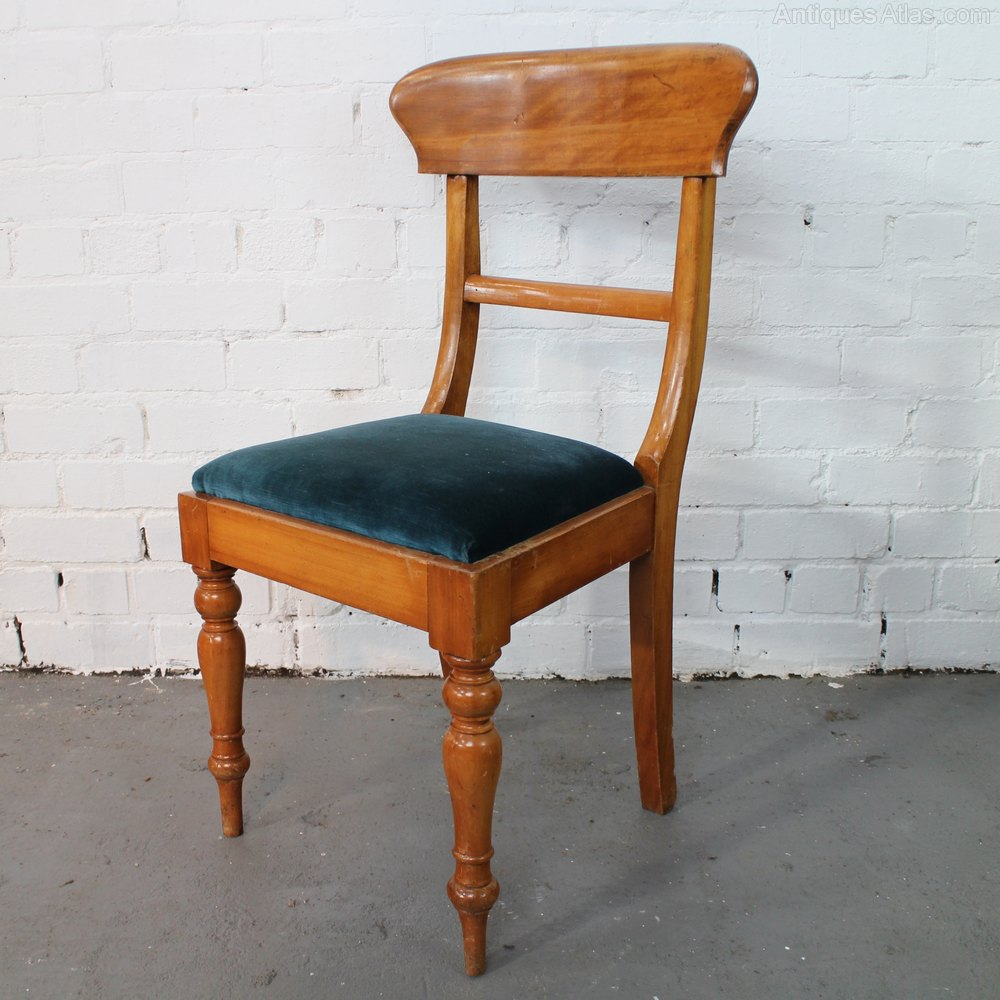 Rare set of twelve victorian solid oak leather antique chairs empire - Set Of 12 Victorian Satin Walnut Dining Chairs Antiques