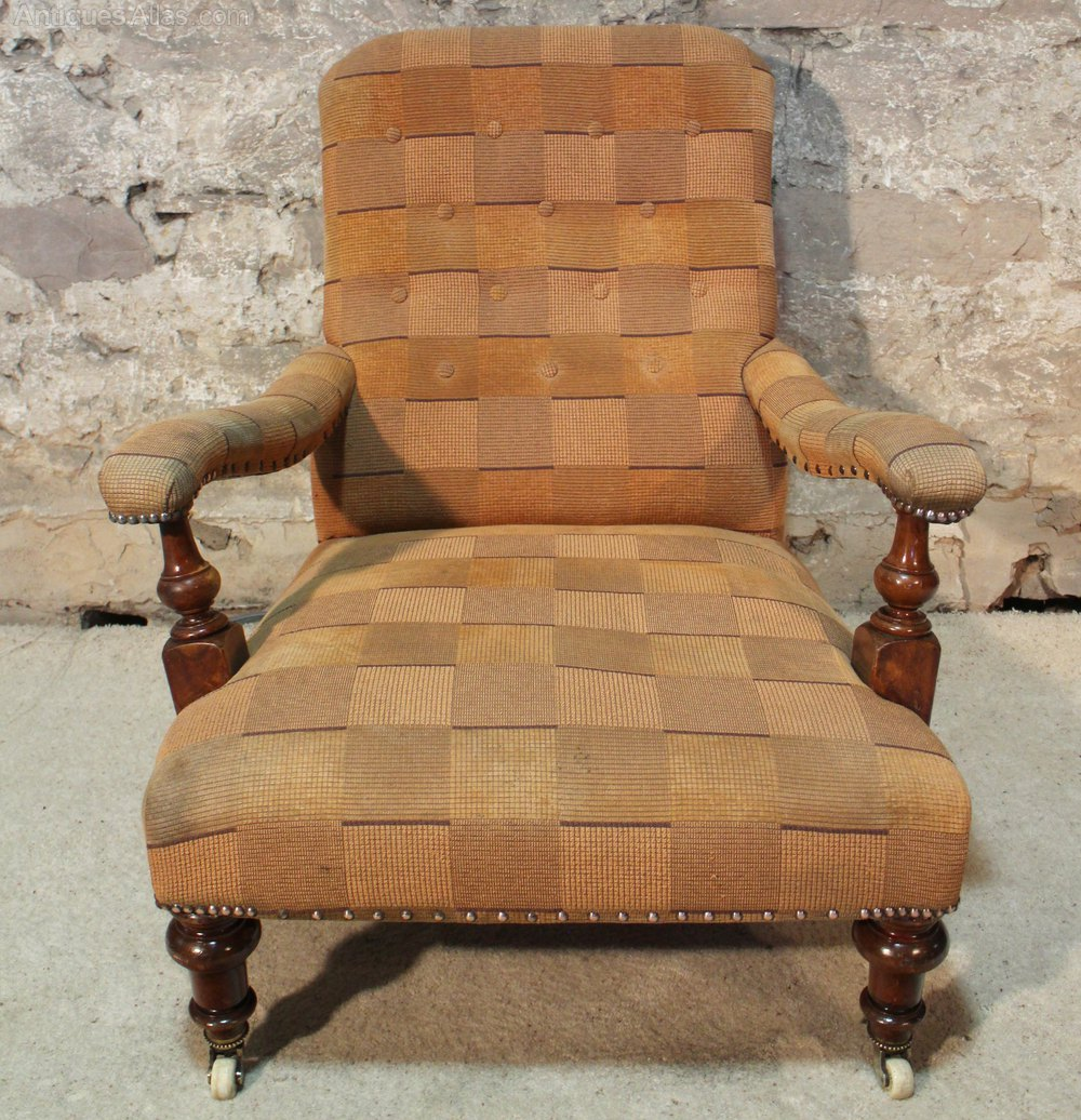 Victorian Howard and Sons Style Library Chair Antique Armchairs  Victorian Howard And Sons Style Library Chair   Antiques Atlas. Antique Library Armchairs. Home Design Ideas