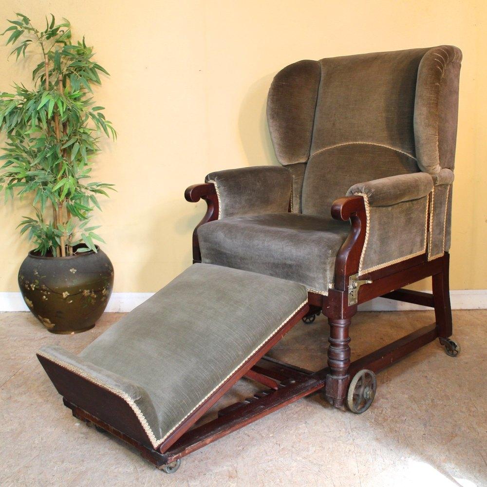 Victorian Mahogany Reclining Invalid S Armchair Antiques