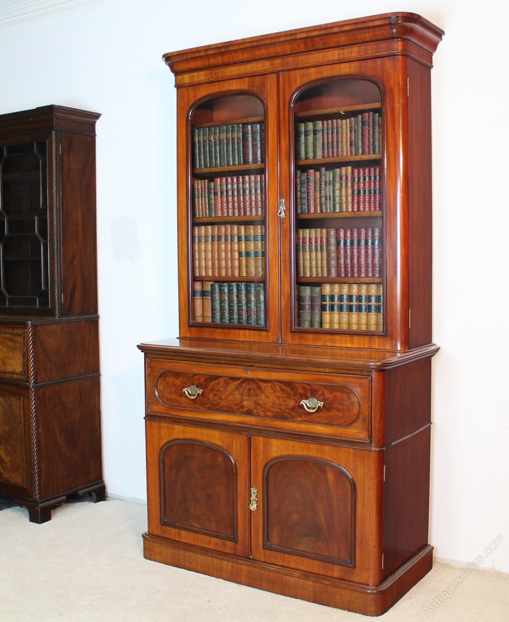 Victorian Mahogany Secrétaire Bookcase
