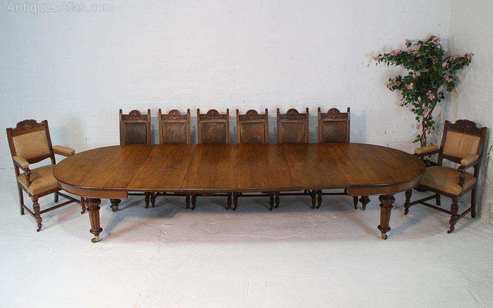 Stunning Victorian Oak Dining Table u Leaf Holder ft Antique Extending Dining Tables