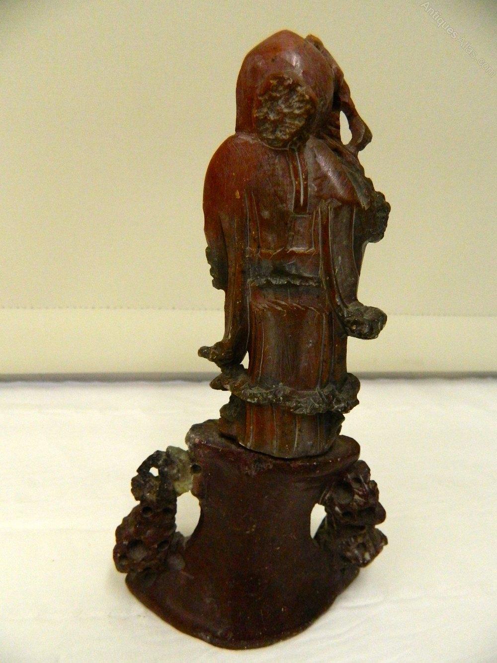 Antiques atlas antique oriental carved soap stone figure