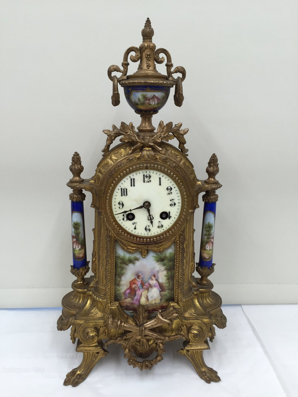 Antiques Atlas - French Ormolu Mantle Clock Circa 1830