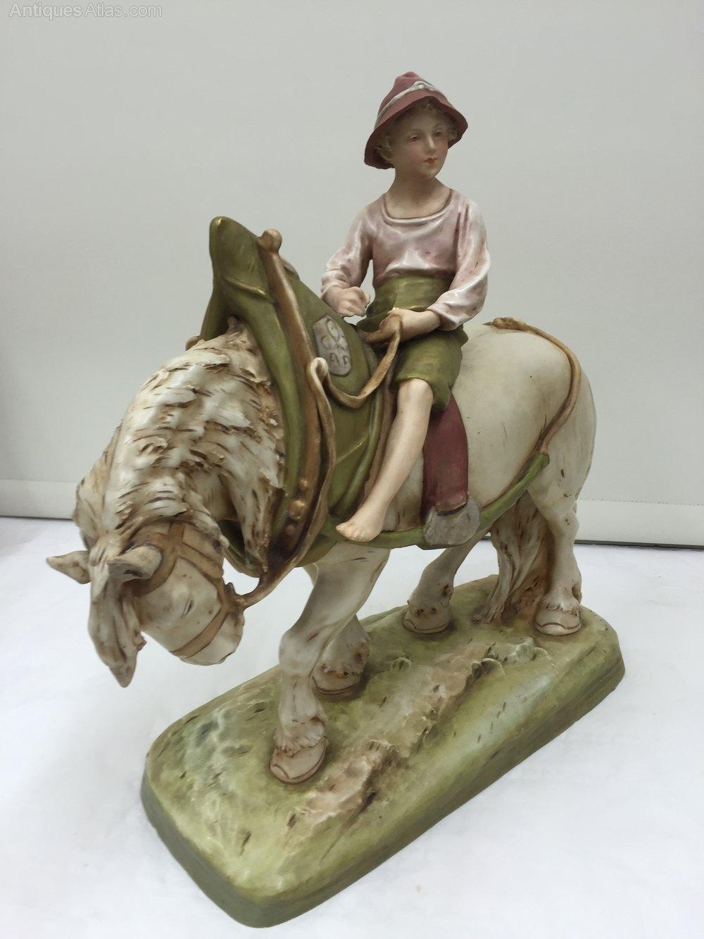 Antiques Atlas Large Royal Dux Porcelain Figurine Shire