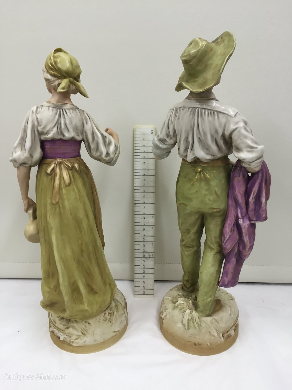 Antiques Atlas Pair Large Royal Dux Porcelain Figurines