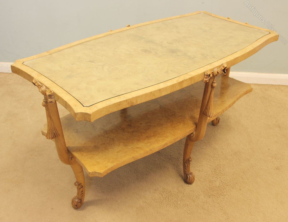 Antique Art Deco Walnut Coffee Table Antiques Atlas