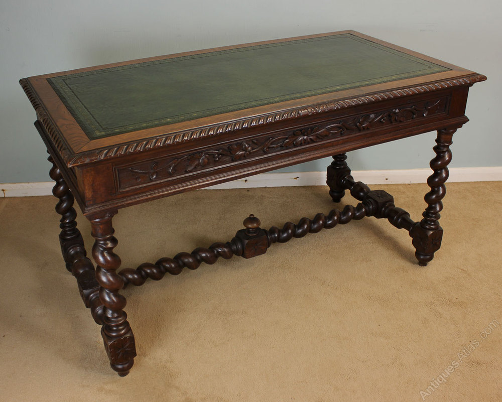 oak writing desks Enhance functionality and preserve a stylish image with the help of this excellent oak writing desk with side shelves easy to use.