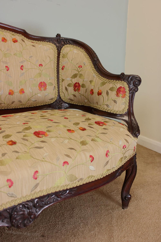 Antique Edwardian Mahogany Sofa Settee Antiques Atlas