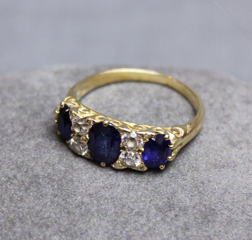 antiques atlas antique edwardian sapphire ring