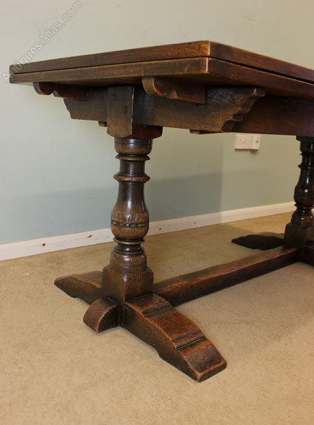 Antique Farmhouse Oak Refectory Dining Table Antiques Atlas