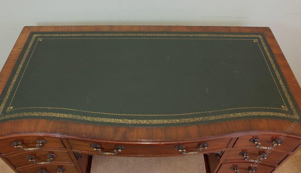 Antique mahogany knee hole writing desk antiques atlas - Antique peephole ...