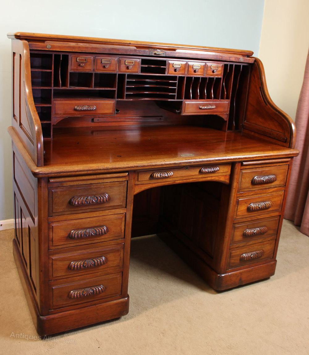 Antique Mahogany Roll Top Desk Antiques Atlas