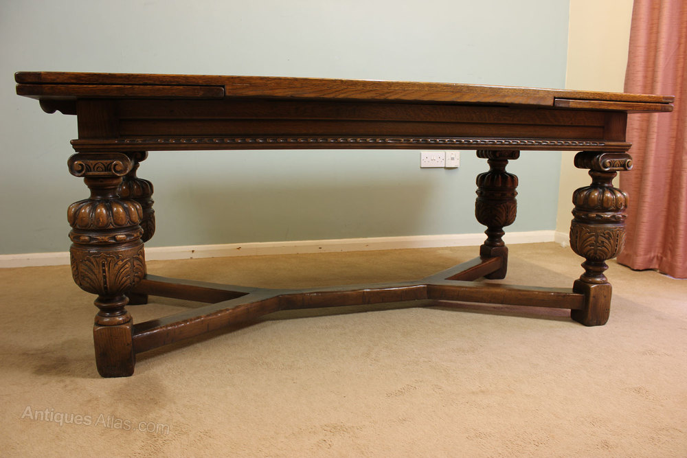 Antiques Atlas Antique Oak Refectory Draw Leaf Dining Table