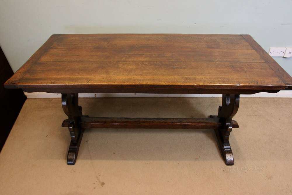 Oak Refectory Tables For Sale Antique solid oak refectory dining table having a lovely oak plank top ...