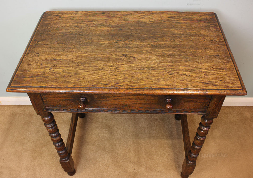 Antique Oak Table ~ Antique oak side table antiques atlas