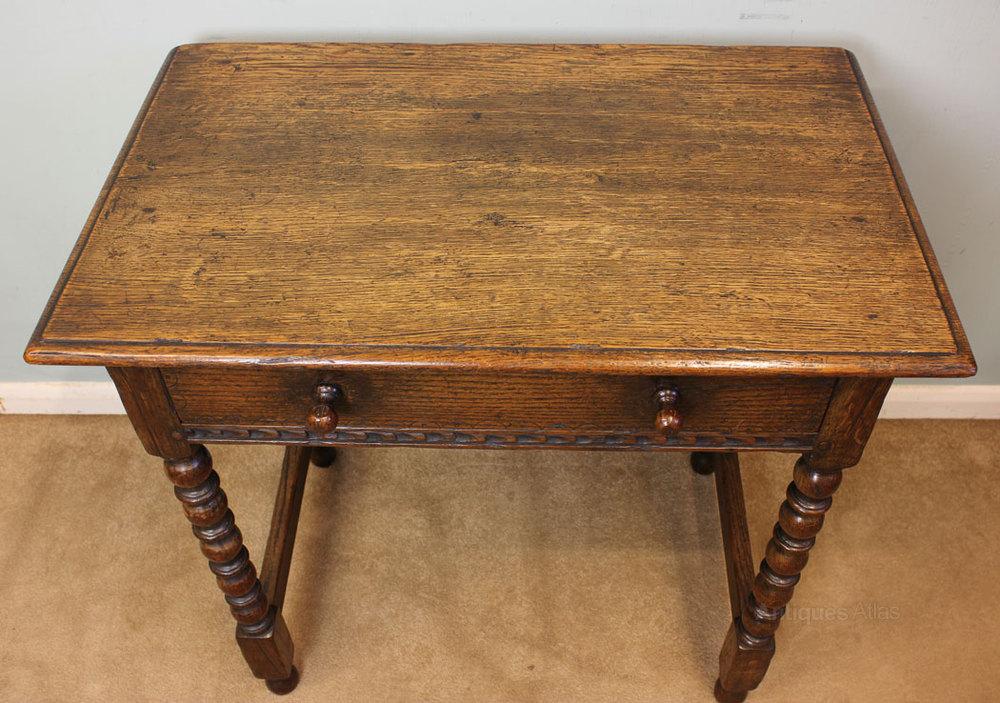 Antique oak side table antiques atlas