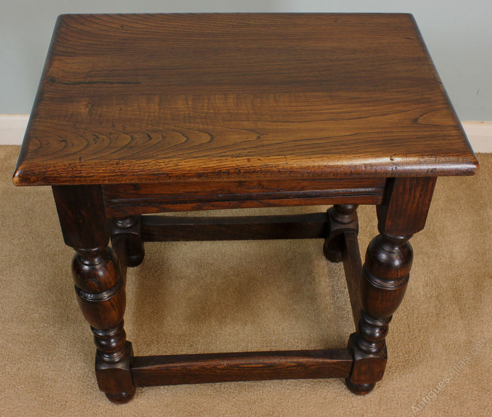 Antiques atlas antique oak stool occasional table for Occasional tables
