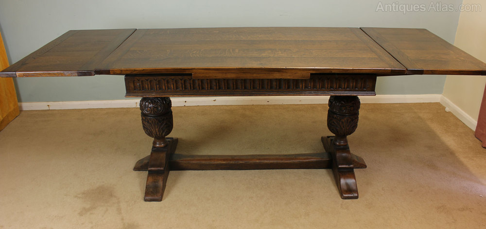 Antique Refectory Draw Leaf Table Dining Table Antiques  : AntiqueRefectoryDrawLeafTaas105a898z 1 from www.antiques-atlas.com size 1000 x 472 jpeg 77kB