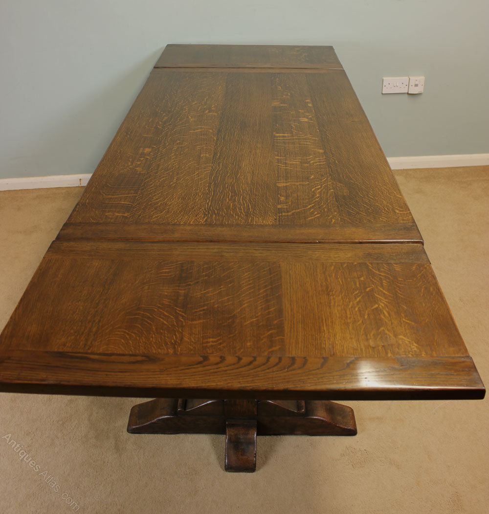 Antique Refectory Draw Leaf Table Dining Table Antiques