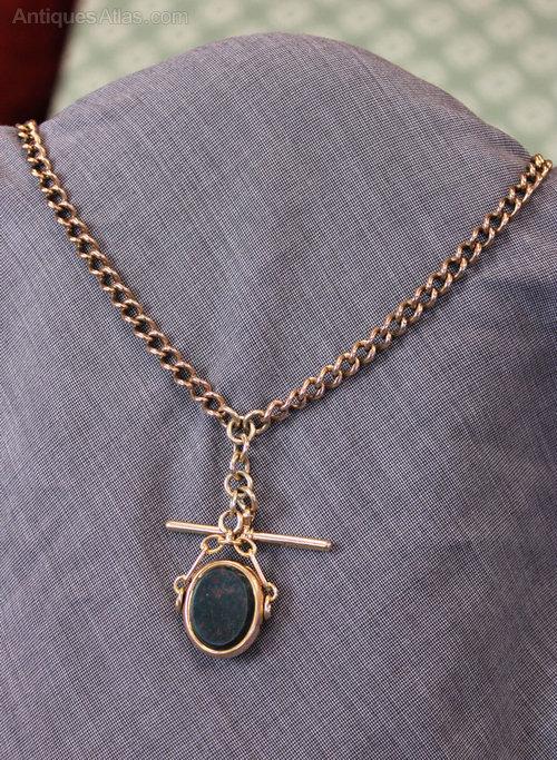 Antiques Atlas - Antique Rose Gold Double Watch Chain ...