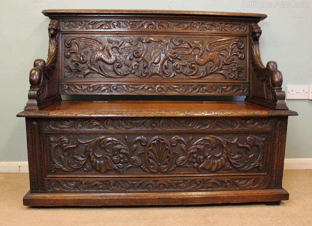 Antique Victorian Box Settle Monks Bench Antiques Atlas
