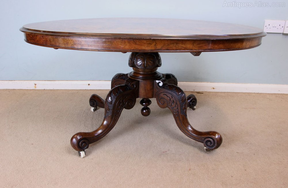 Antique Victorian Burr Walnut Coffee Table Antiques Atlas