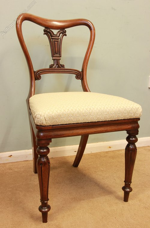 Antique victorian dressing table desk side chair for Dressing table 85cm