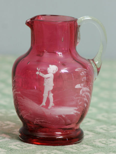 Antiques Atlas Antique Victorian Mary Gregory Cranberry
