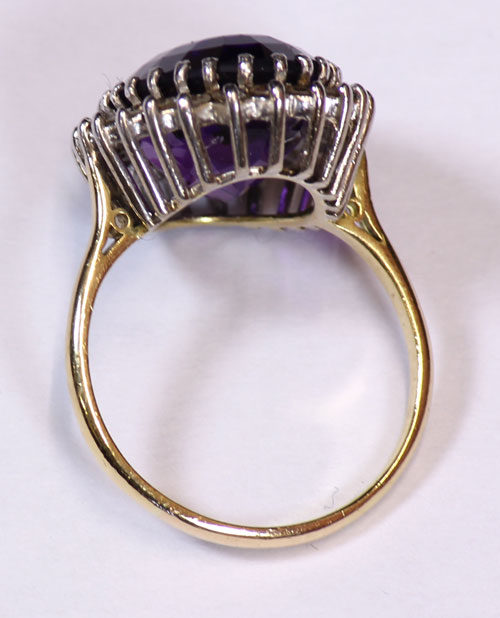 Antiques Atlas Antique Vintage Amethyst And Diamond Ring