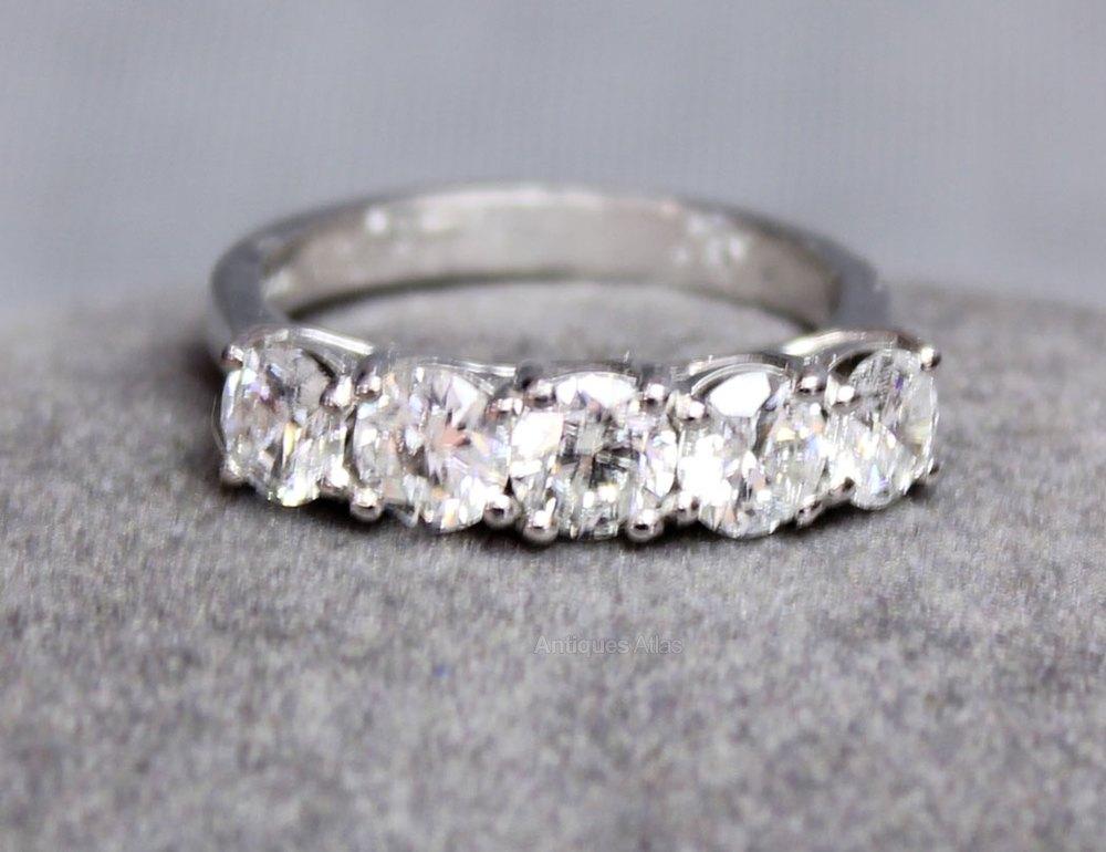 Antiques Atlas Antique Vintage Five Stone Diamond Ring