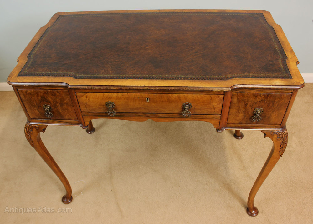 Antique Writing Desk ~ Antique walnut writing desk table antiques atlas