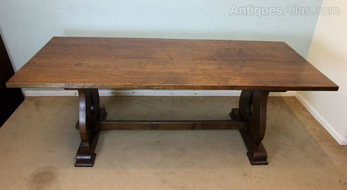 Antiques Atlas Solid Oak Refectory Farmhouse Dining Table