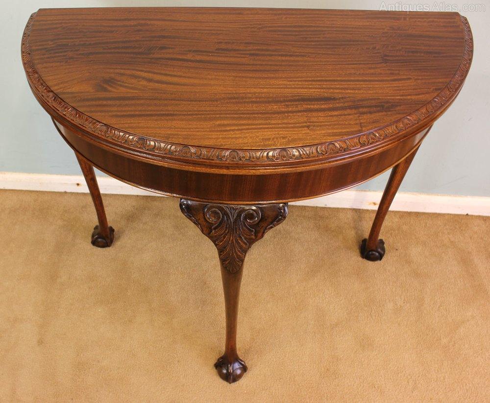 Mahogany Half Moon Side Table Card Table Antiques Atlas