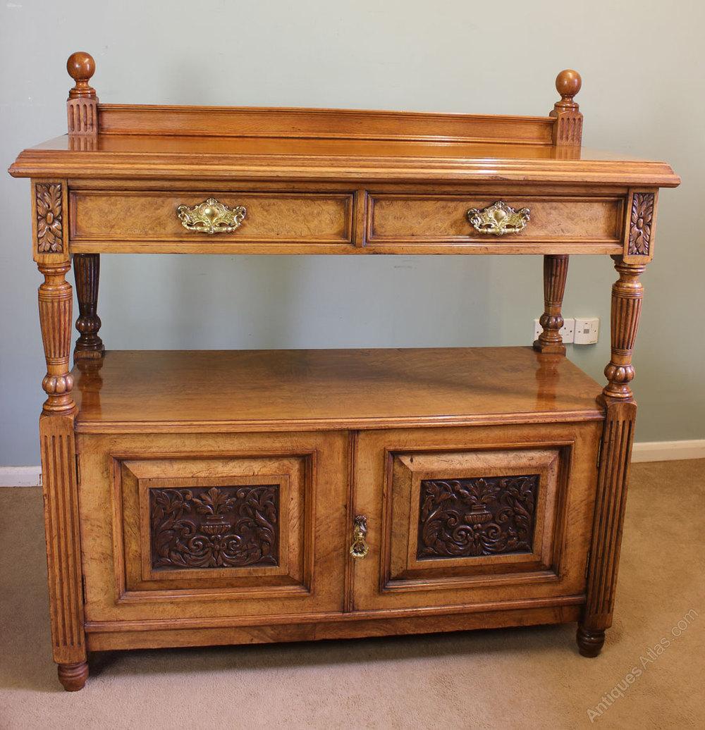 Oak Buffet Servers ~ Victorian pollard oak sideboard buffet server