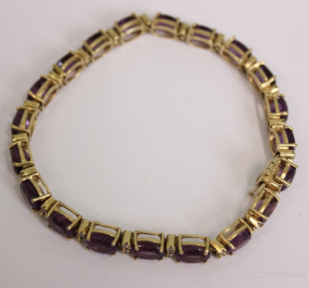 Antiques Atlas Vintage Amethyst Amp Diamond Bracelet
