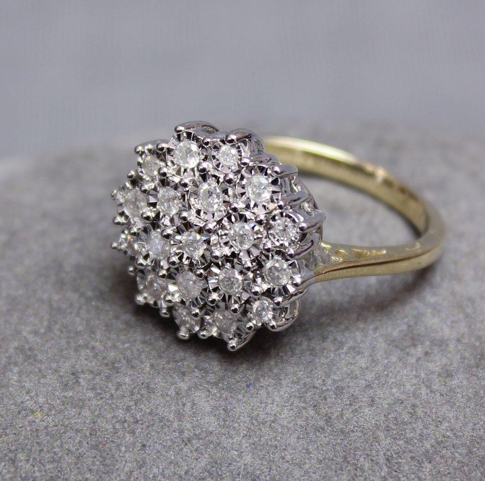 vintage diamond cocktail ring eBay