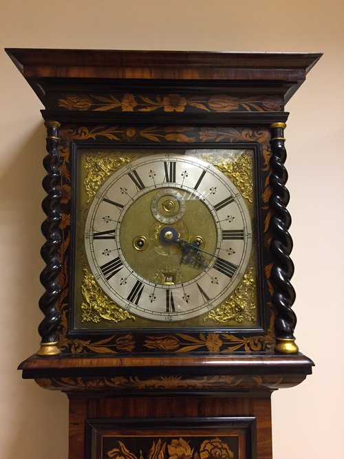 Marquetry Longcase clock by John Williamson, Leeds