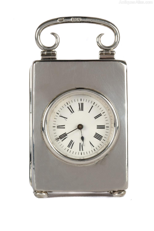 Antiques Atlas Miniature Silver Carriage Clock