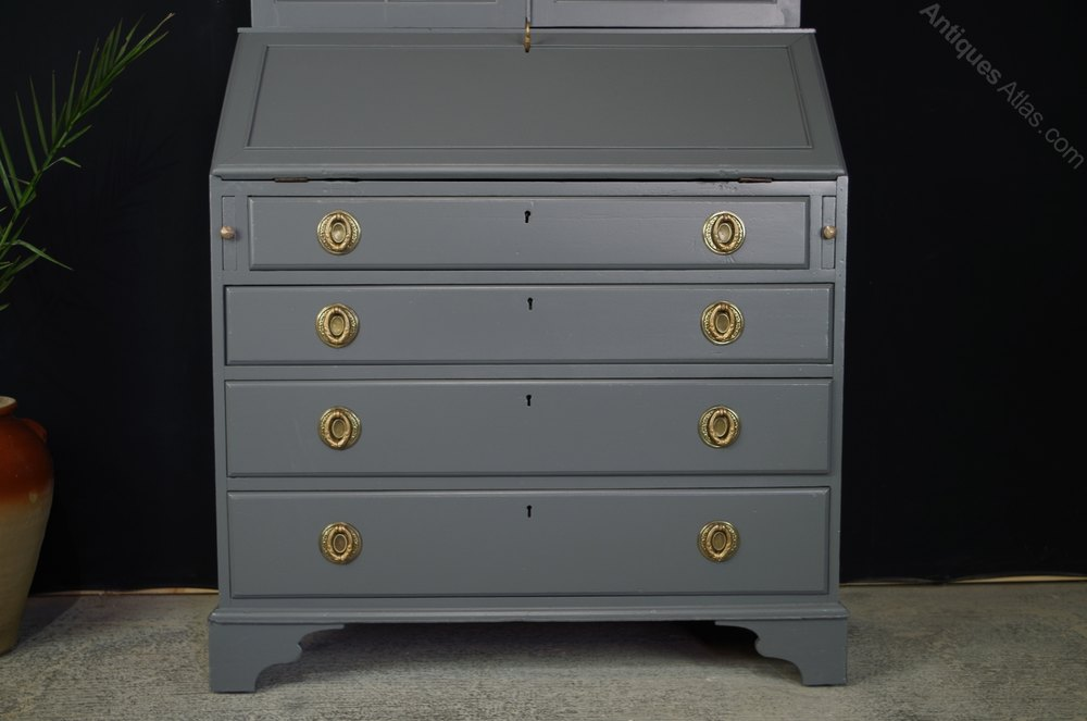 secretaire bookcase georgian bureau antiques atlas. Black Bedroom Furniture Sets. Home Design Ideas