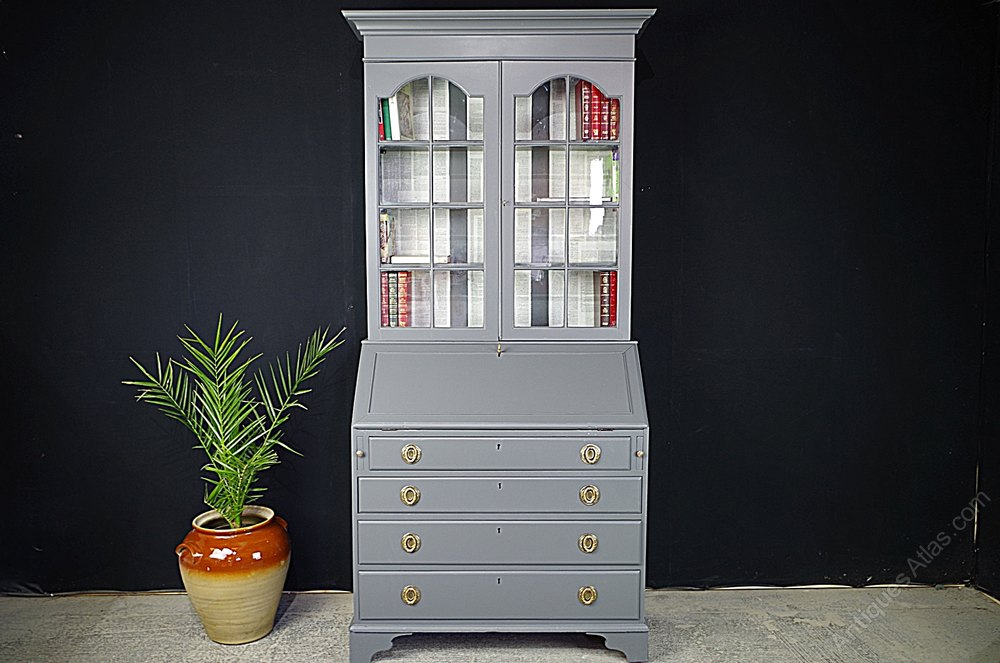 secretaire bookcase georgian bureau antiques atlas. Black Bedroom Furniture Sets. Home Design Ideas