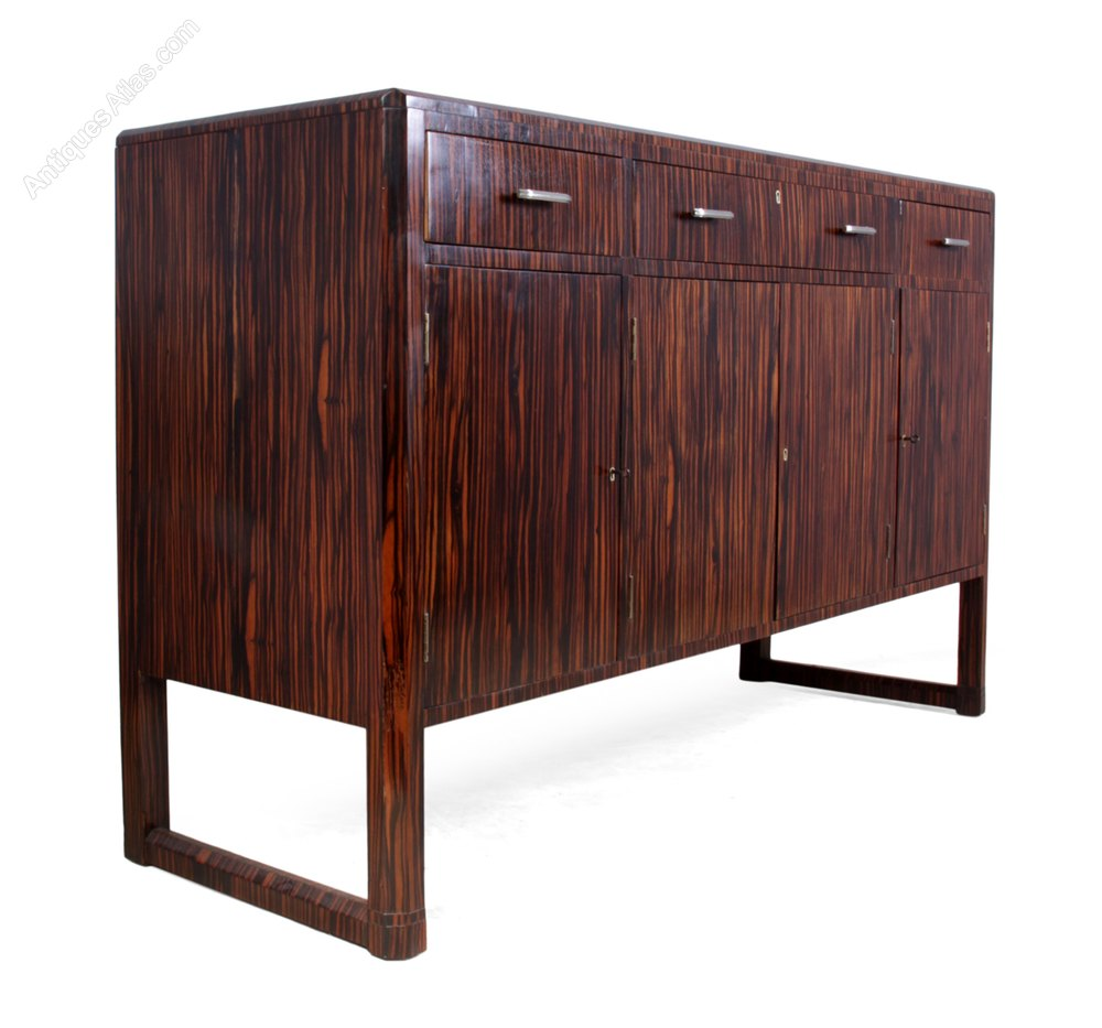 art deco sideboard in macassar ebony c1930 antiques atlas. Black Bedroom Furniture Sets. Home Design Ideas