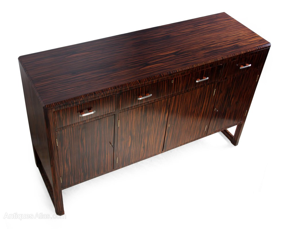 Art deco sideboard in macassar ebony c1930 antiques atlas - Deko sideboard ...