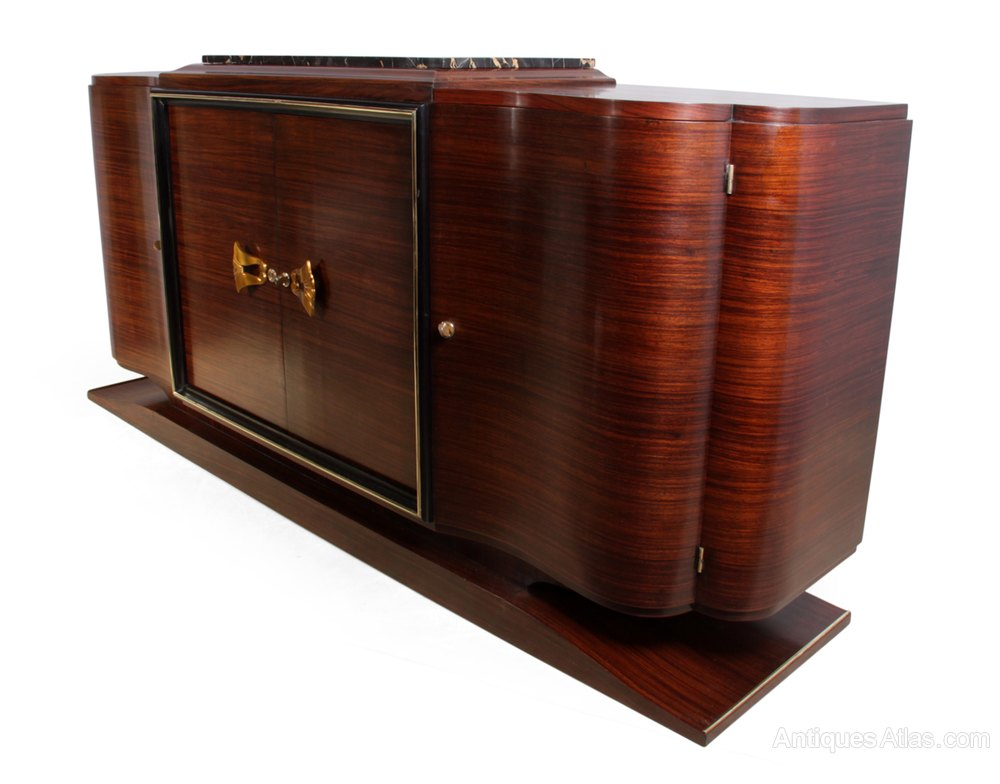 art deco sideboard in rosewood french c1920 antiques atlas. Black Bedroom Furniture Sets. Home Design Ideas