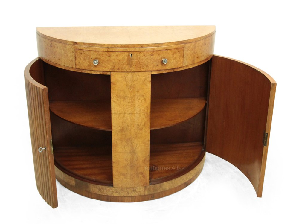 art deco walnut console table c1930 antiques atlas. Black Bedroom Furniture Sets. Home Design Ideas