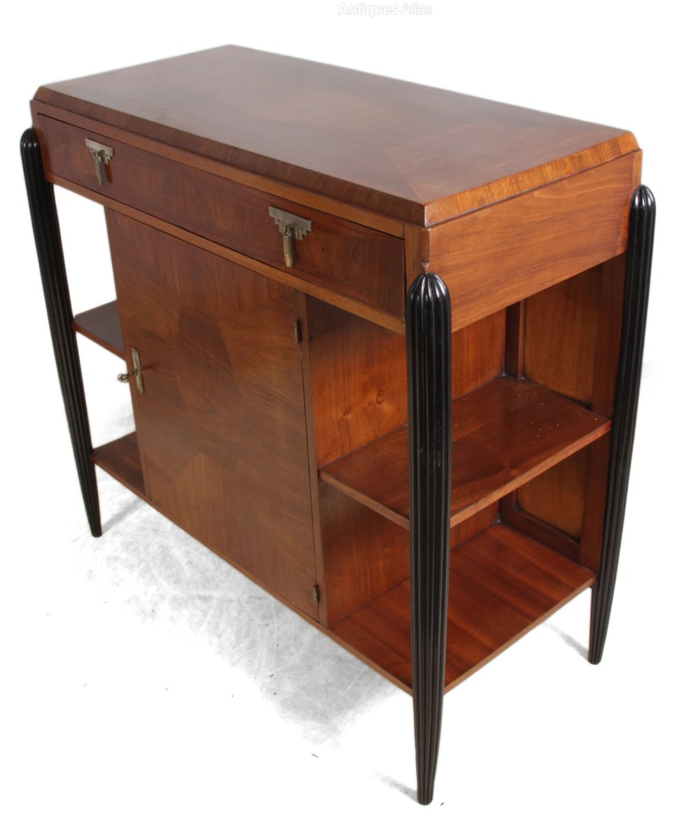 art deco walnut console table french c1930 antiques atlas. Black Bedroom Furniture Sets. Home Design Ideas