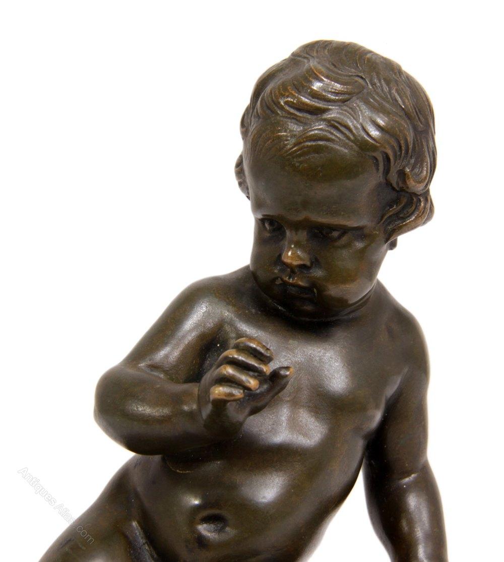 Antiques Atlas Bronze Cherub By Clodion C1780