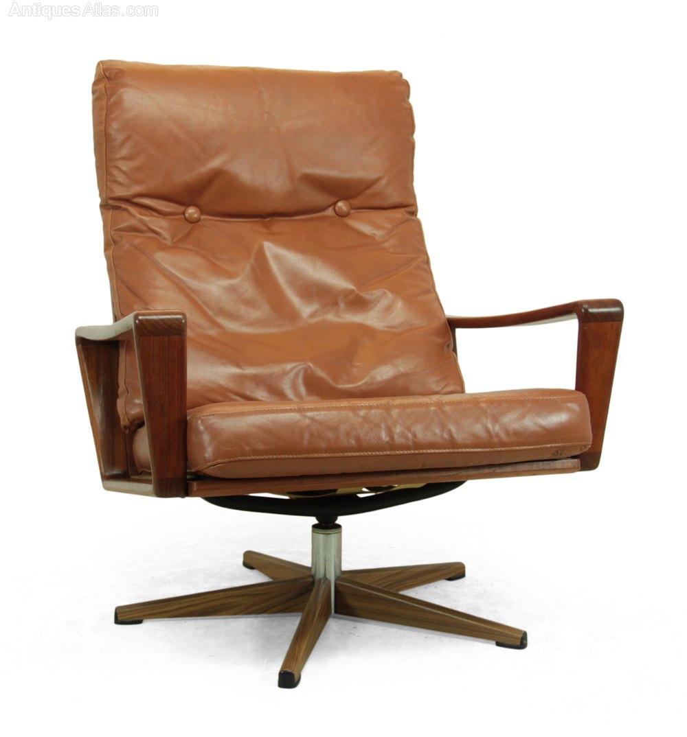 antiques atlas danish teak swivel chair c1960