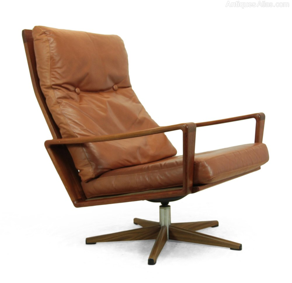 danish teak swivel chair c1960 a solid teak mid century chair produced