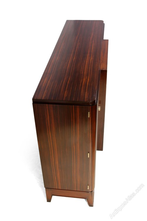 french art deco sideboard in macassar ebony c1930 antiques atlas. Black Bedroom Furniture Sets. Home Design Ideas