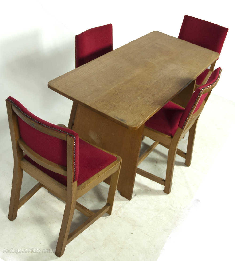 heals solid oak dining table and four chairs antiques atlas